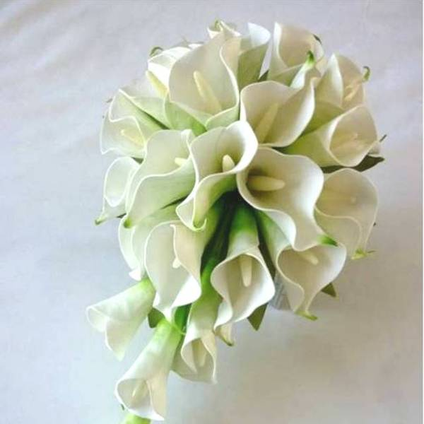 White Real Touch Posy Calla Lily Mdiy