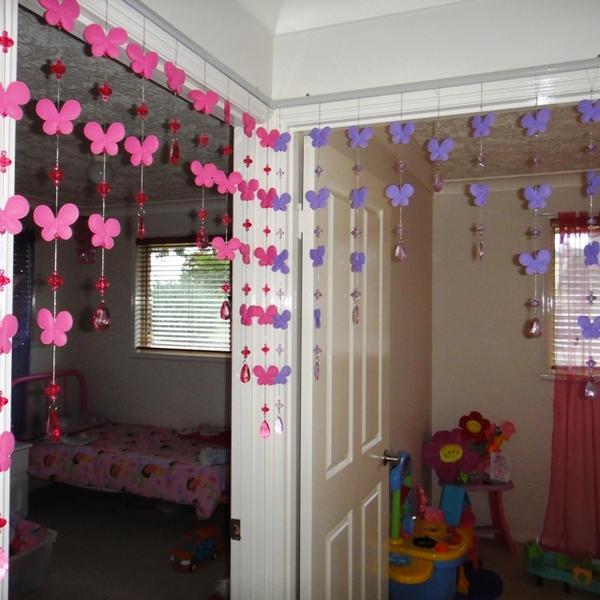 New Purple Butterfly Beaded Arch Door Curtain Girls Bedroom Decor Best Xmas Gift Ebay