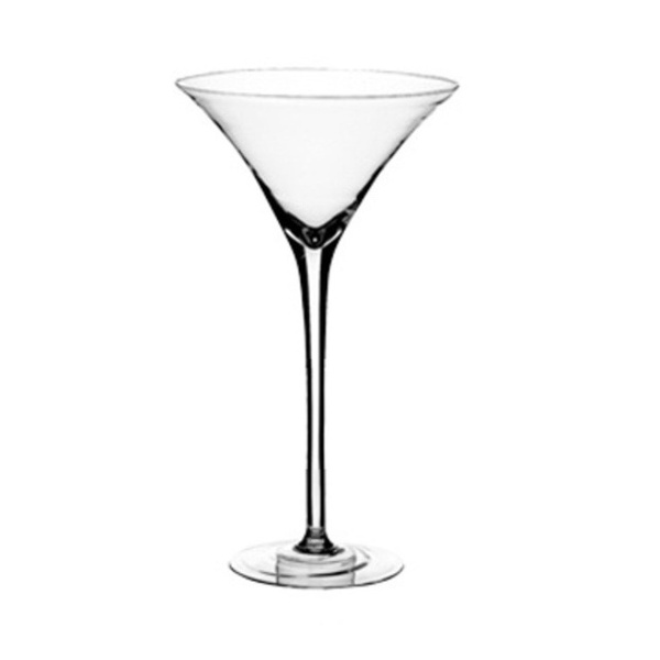Elegant giant martini glass vase 40cm tall wedding party for Decoration vase martini