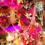 10pk Crystal Bead Garlands Small Round 50cm