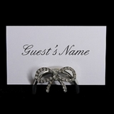 Pack of 10 Name Card Holder | Diamond Bow Effect