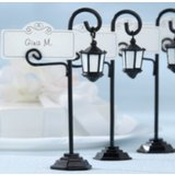 Pack of 10 Old-World Charm Street Light Wedding Favour Name Placecard