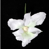 White Real Touch Dendrobium Orchid Flower Head