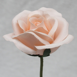 Peach Rose Velveteen Bloom Flower and Stem
