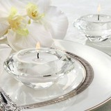 12pk Crystal Glass Diamond Tealight Candle Holders