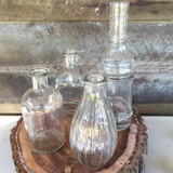 Glass Vintage Bottles Bud Vases