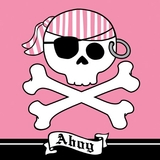 16pk Pirate Parrty! Pink Ahoy Luncheon Napkins