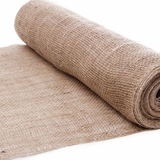 10m Natural Brown Hessian Jute Burlap Fabric Roll 50cm Wide