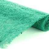 Peppermint Green Sisal Wrap Scrunch Mat Continuous Table Runner Roll 2m x 50cmW