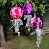 4pk Small Adorned Rose Flower Kissing Ball