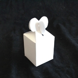 50pk Gloss White Heart Favour Boxes