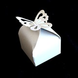 50pk White Butterfly Wedding Bomboniere Favour Boxes