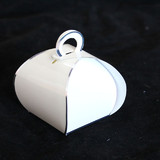 50pk Gloss White with Silver Edge Purse Favour Boxes