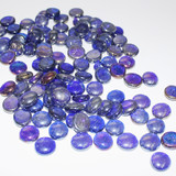 500g Dark Blue Iridescent Glass Wish Bubbles