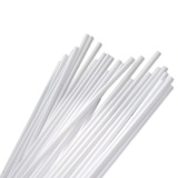 100pk White Balloon Sticks 39cm