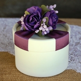 Purple Paper Rose Favour Box