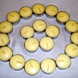 20pk Ivory Coloured Tealight Candles