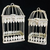 Large Square Vintage Bird Cage