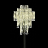 Crystal Beads and Icicle Pendants Chandelier Centrepiece Kit