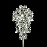 Froth and Bubble Silver Beaded Chandelier Centrepiece Kit