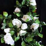 White Rose Greenery Garland