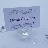 Crystal Diamond Guest Name Placecard Holder