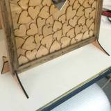 Heart Drop Box Guestbook Frame Stand