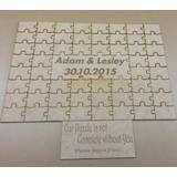 Personalised Jigsaw Wedding Guest Book