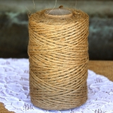 100m Natural Jute String Twine - Natural Brown or Green