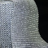 1m Silver Diamante Effect Mesh