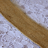 33m Rustic Natural Jute Hessian 50mm Wide Ribbon Runner