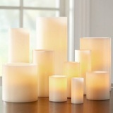 LED Candles Real Wax Round Pillar
