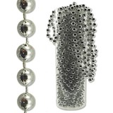 Silver Beaded Garland Pearl String 23m