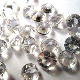18mm Clear or Pink Diamonds Confetti Table Scatters 500g (270pcs)