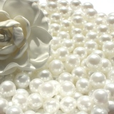 500g White 14mm Acrylic Pearls Vase Fillers Table Scatters (approx. 235pcs)
