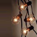 Festoon String Lights Round Globe