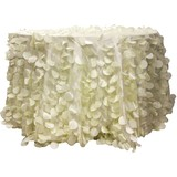 Ivory Taffeta Leaf Petal Tablecloth