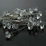 100pk Long Diamond Head Florist Corsage Pins 55mm