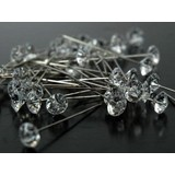 1000pk Long Diamond Head Florist Corsage Pins 55mm