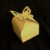 50pk Gold Butterfly Favour Boxes
