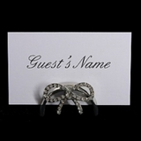Name Card Holder | Diamond Bow Effect