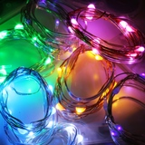 1m Wire Fairy Lights 10 LED Bulbs Battery Operated