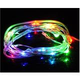 Multi-Coloured Wire Fairy Lights LED Bulbs Battery Operated