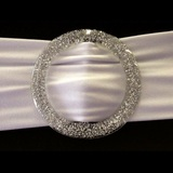 Large Silver Glitter Ribbon / Sash Sliders