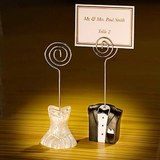 Bride & Groom Favour Name Placecard Holders Set of 2