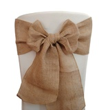 Burlap Chair Sash - Overlocked Edge