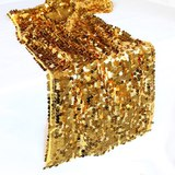 Gold Payette Sequin Table Runner