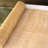 Woven Rattan Burlap Roll Continuous Table Runner 9.14m x 45cmW