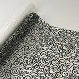 9m Black Swirl Fabric Roll 47cmW