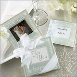 2pk Hope Love Faith Frosted Glass Coasters
